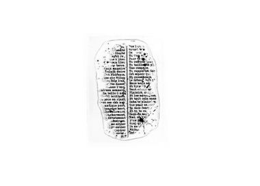 Tampon Clear MINI TEXTE MOUCHETE FLORILEGES DESIGN