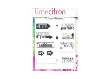 Tampons Clear MINI KIT PROJECT LIFE 2 LIME CITRON