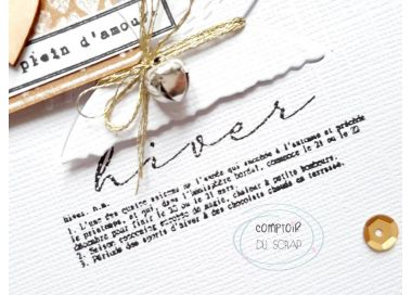 Tampon Clear DEFINITION HIVER Comptoir du Scrap