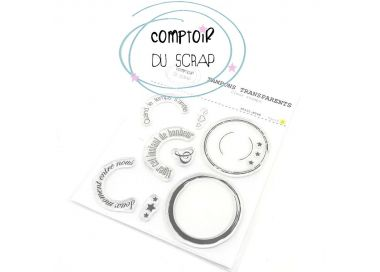 Tampons Clear DOUX MOMENTS Comptoir du Scrap