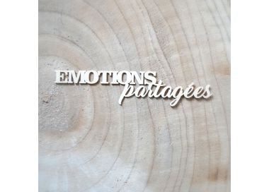 Chipboard Carton Bois EMOTIONS PARTAGEES
