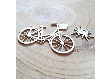Chipboards Carton Bois scrapbooking BICYCLETTE