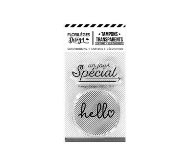 Tampons Clear HELLO SPECIAL Florilèges Design
