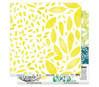 Papier Imprimé 30,5x30,5 YELLOW 7 FLORILEGES DESIGN