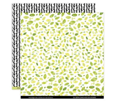 Papier Imprimé 30,5x30,5 YELLOW 5 FLORILEGES DESIGN