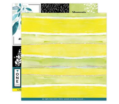 Papier Imprimé 30,5x30,5 YELLOW 4 FLORILEGES DESIGN